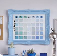 "Diy Calendar 16"" X 20"" Picture Frame Paint Swatches / Sticky Notes ..."