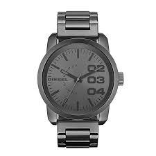 diesel watches h samuel diesel mens double down gunmetal dial bracelet watch product number 9540237