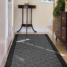 casa pura boulevard modern striped flat weave hall kitchen runner rug 80x300cm non