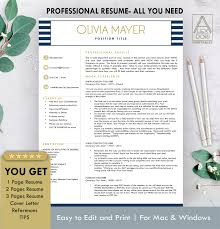Resume Template In Blue Stripes By Resume Templates On Dribbble