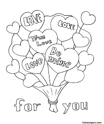 Small Picture Free Printable Valentines Day coloring page Archives gobel