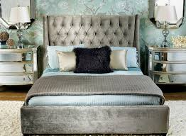 bedrooms with mirrored furniture. i love how grey looks in bedrooms with accent colors mirrored dressers walls tufted bed and headboard furniture