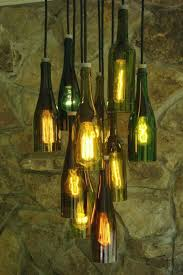 diy wine bottle chandelier bottles with lights how to make hanging lamp from recycled lamps table wrought iron beer floor chandeliers light fixture