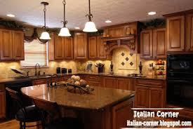 wooden furniture for kitchen. Classic Italy Kitchen Design With Italian Wooden Furniture And Ceiling Light For I
