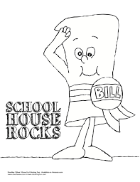 Small Picture School House Rocks Coloring Sheet Doodles Ave Schoolhouse Rock