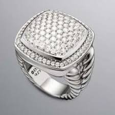 sterling silver designer inspired pave cz diamond ring