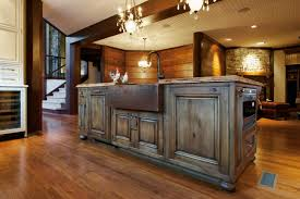 Copper Kitchen Decorations Decor Tips Interesting Rustic Kitchen Cabinets For Kitchen