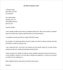 Job Offer Letter Template Word Offer Letter Template 7 Free Word Pdf Documents Download Free