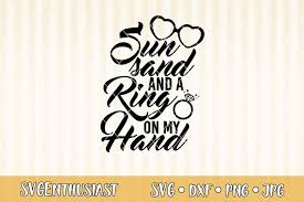 A festive design that is filled with christmas spirit! Sun Sand And A Ring On My Hand Svg Cut File 421319 Svgs Design Bundles