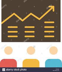 Team Arrow Business Chart Efforts Graph Success Flat