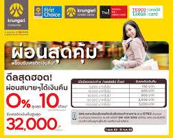 krungsri credit card promotion
