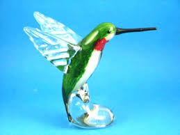 glass hummingbird figurines hand blown