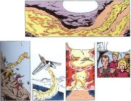 kirby s art in the final panels shows the torch filling the tunnels with flame which suggests that they cause the explosion but lee can t have a hero
