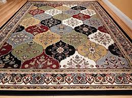 large rugs for living room 8 x11 multicolor red blue cream green 8x10