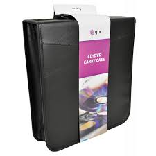 faux leather cd case holder storage for 200 cds dvds inc free double cd