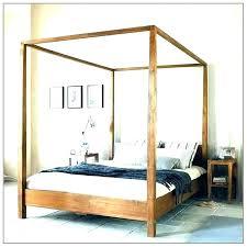 wood canopy bed frame – reloadyourtest.co