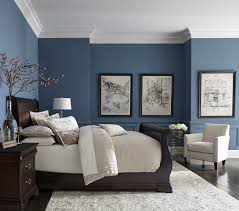 furniture blue walls brown furniture shocking pretty blue color with white  crown molding home picture of