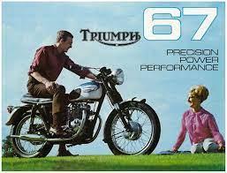 sell triumph brochure t120 t120r t120tt