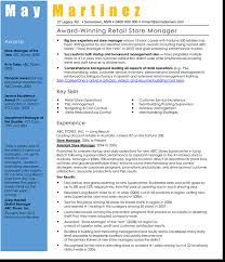 Department Store Manager Resumes 3 Best Retail Manager Resume And Cv Samples