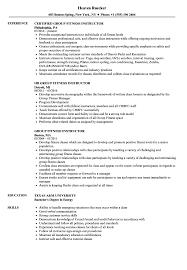 Sample Resume For Gym Instructor. Resume For Gym Receptionist Sample ...