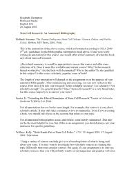 Blank Simple Annotated Bibliography Template Format Pdf Format E