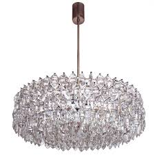 large silver plated crystal chandelier lobmeyr bakalowits sons vienna for