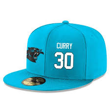 Player 30 Adjustable Curry Panthers Sale Snapback Stephen Stitched - Hat Football white Blue Carolina
