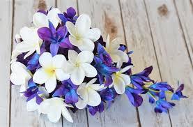 Natural Touch Purple Orchids Cascading Bouquet