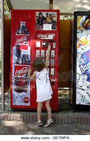 Vending Machine Girl Mesmerizing Little Girl With Drinks Vending Machine Stock Photo 48 Alamy