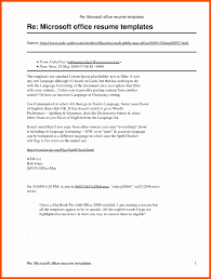 Microsoft Resume Software Professional Resume Templates