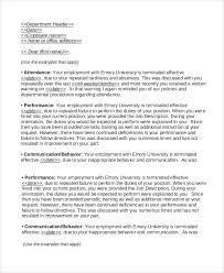 Example Of Termination Letter To Employee Free Termination Letter