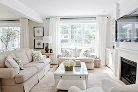 Lux Decor Bright Living Room With Light Linen Colored Sofa And Gorgeous Bright Living Room Decoration