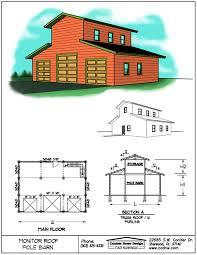 monitor style pole barn plans