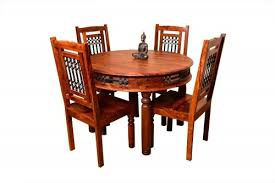 4 seater vintage round dining table set