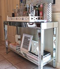 Mirrored Foyer Table Console