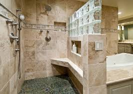 bathroom remodel tampa. Bathroom, Amusing Bathroom Remodel Tampa Home Style With Glass Block Wall And Shower Mounted P