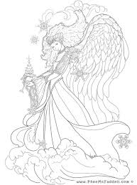 Fantasy Fallen Angel Coloring Pages Print Coloring