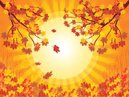 Yellow Tree Autumn Backgrounds Nature Templates Free Ppt Grounds