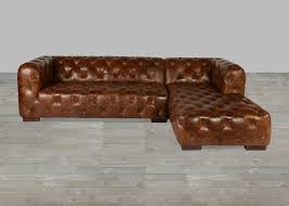 vintage leather couch. Coco Brompton Vintage Leather Sectional Couch 2