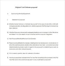 Cost Proposal Templates Cost Proposal Template 100 Free Word Excel PDF Format Download 4