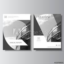 Gray Annual Report Cover Brochure Design Leaflet Layout Flyer