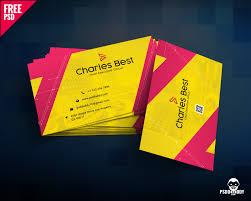 Free Psd Business Card Templates Download Creative Business Card Free Psd Psddaddy Com