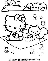 Coloriage Hello Kitty Les Beaux Dessins De Dessin Anim L L L L L L L