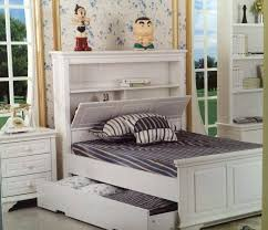 King single bed with storage head white trundle goingbunksbiz