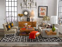 Living Room Area Rug Placement Rustic Shabby Living Room Design In Open Plan Layout On Black