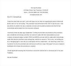 Disability Appeal Letters Disability Appeal Letter Sample Insurance Best Resume Ideas For