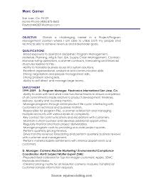 Interesting Resume Format Of Project Coordinator Project
