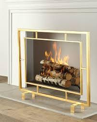 shay glass fireplace screen trendir