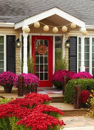 front door entry35 Front Door Flower Pots For A Good First Impression