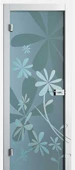modern interior door designs. Floral Design On Glass Door Modern Interior Designs